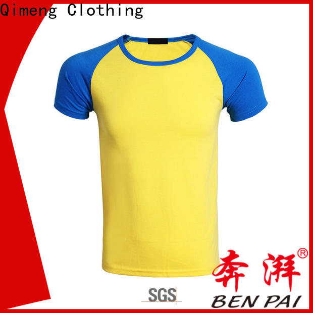 QiMeng 100%cotton plain t-shirts owner for daily wear