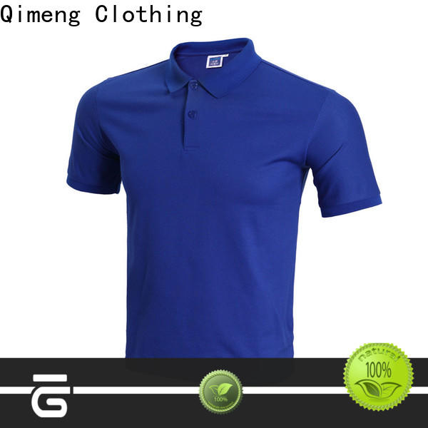 QiMeng shirts 100% cotton polo shirts from China for promotional campaigns