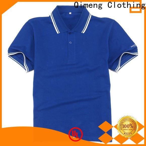 QiMeng 100%cotton polo design shirt vendor for leisure travel