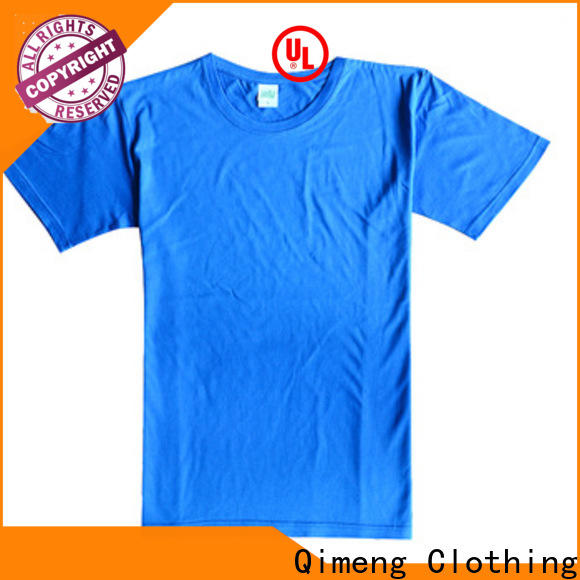 QiMeng style blank t shirts for printing price in street