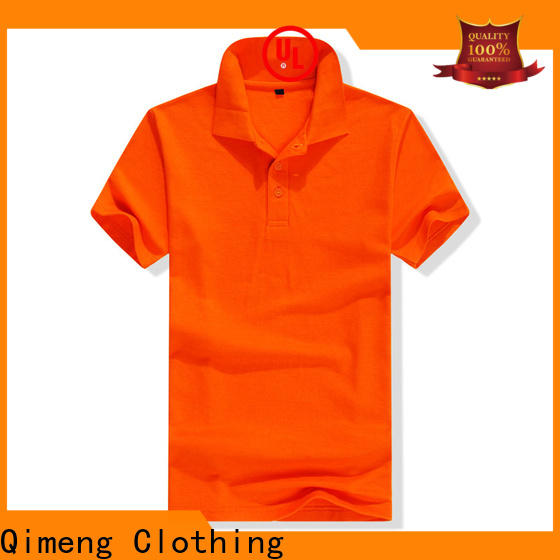 QiMeng nice custom polyester polo shirts wholesale for leisure travel