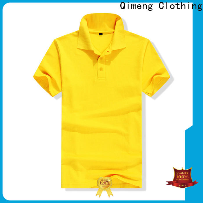 QiMeng colors polyester polo t shirts with many colors  for leisure travel