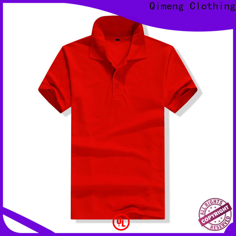 QiMeng first-rate custom embroidered polo shirts from China for team-work