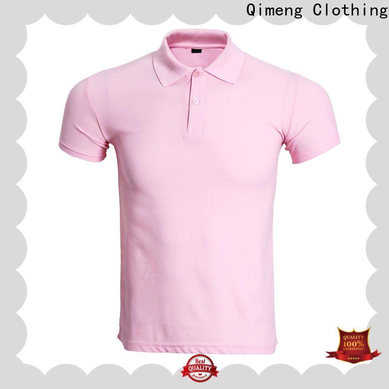 QiMeng 100%cotton custom polo shirts vendor for business meetings