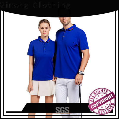 QiMeng shirt personalized polo shirts button design