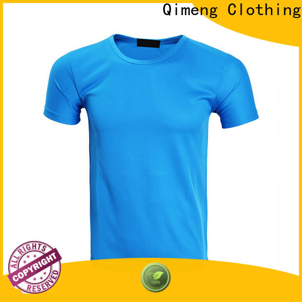 QiMeng custom embroidered t shirts supplier for daily wear