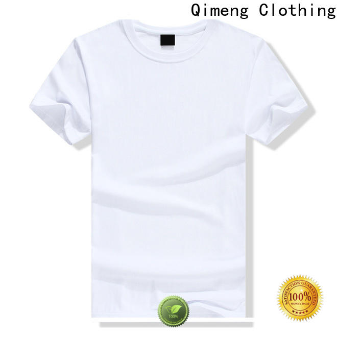 QiMeng sleeveless custom printed t shirts in different color for daily wear