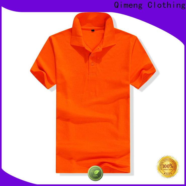 QiMeng promotional custom logo polo shirt vendor