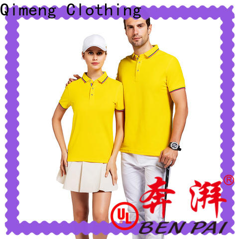 QiMeng short yellow polo t shirts manufacturer for team-work