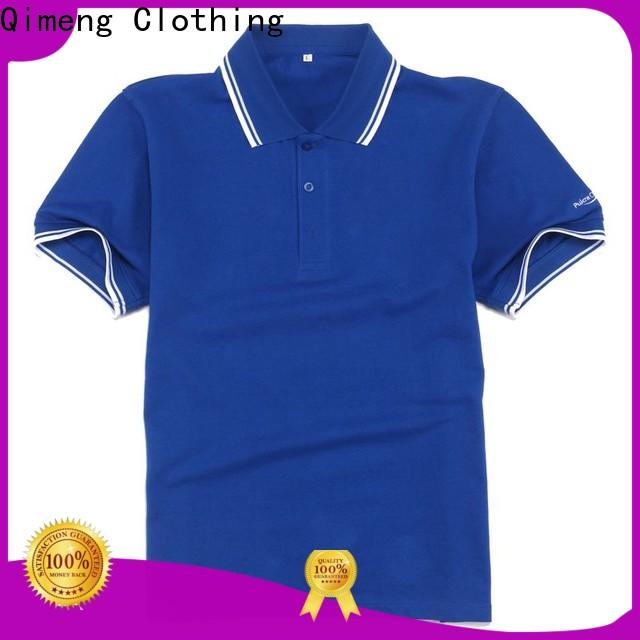 QiMeng men plain polo shirts directly sale for outdoor activities