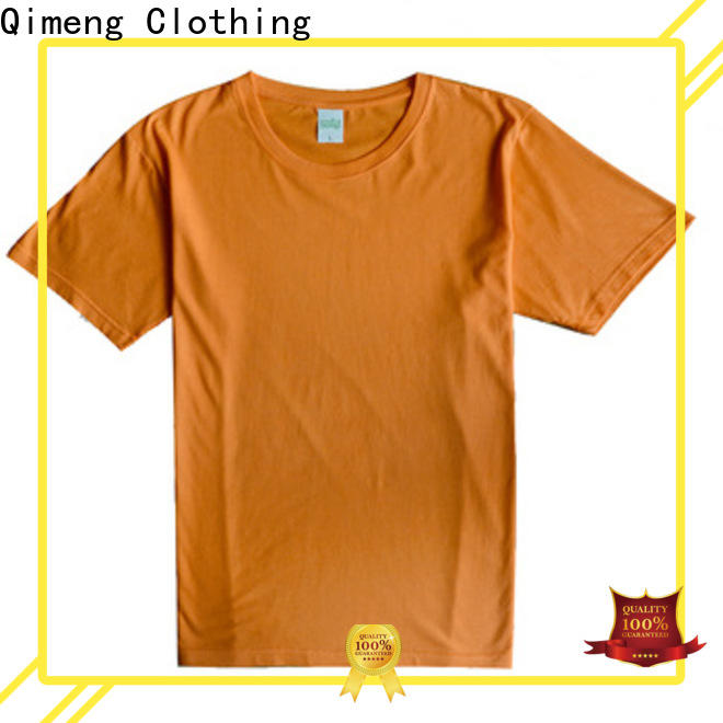 QiMeng sleeve custom printed tshirts in different color for daily wear