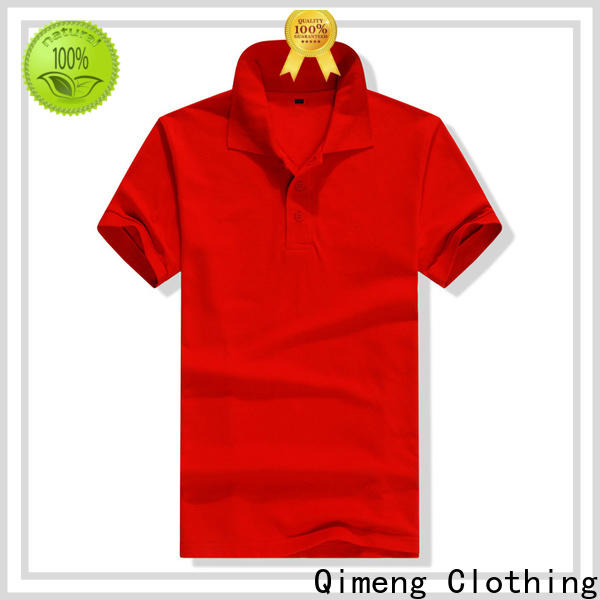QiMeng blank cotton polo shirts women button design for outdoor activities