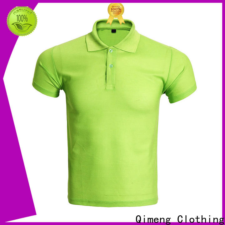 QiMeng excellent polo sport shirts button design for team-work