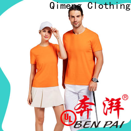 QiMeng new-coming t shirts cotton price for sporting