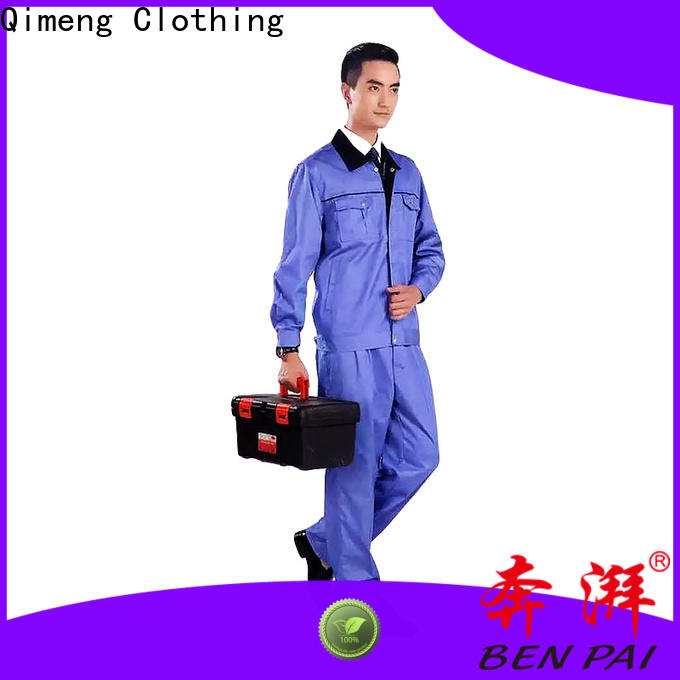 QiMeng work wear uniform in different color in work room