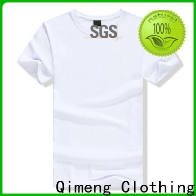 QiMeng white personalized t shirt in China in street