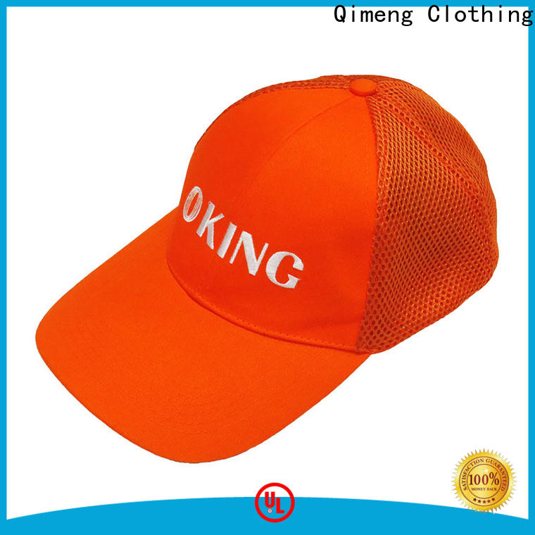 QiMeng design custom baseball cap from China for daily wear