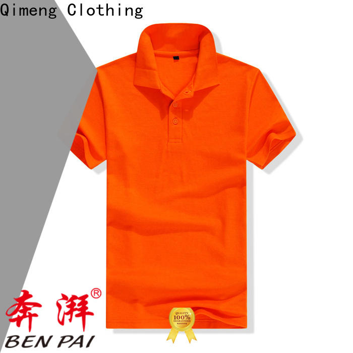 QiMeng new-selling polo sport shirts button design for business meetings