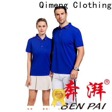 QiMeng style cotton polo shirts mens  for business meetings