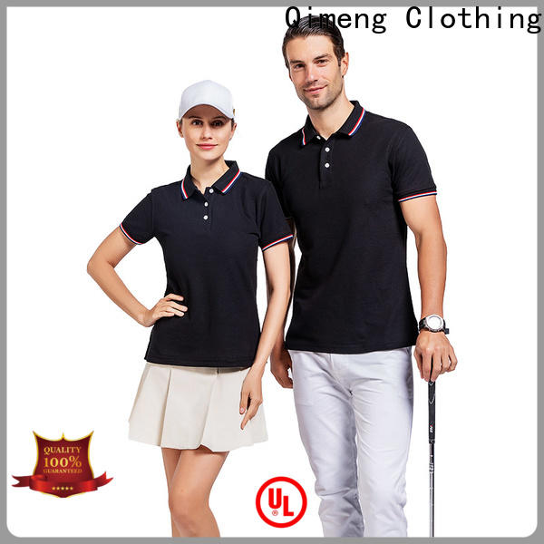 QiMeng excellent custom logo polo shirt from China for outdoor activities