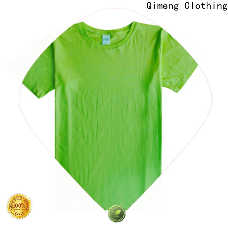 QiMeng promotional plain t-shirts for-sale for sports