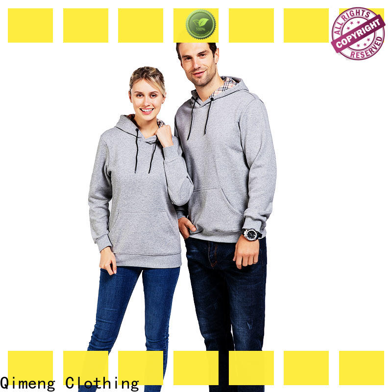 QiMeng sweatshirt plain hoodies with many colors for sports