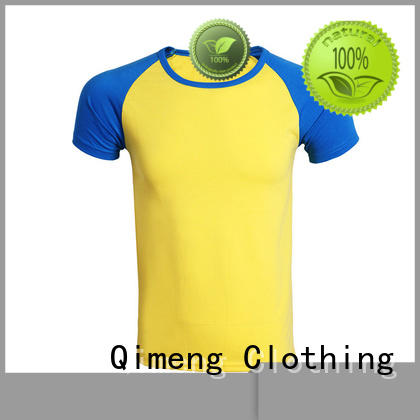 QiMeng apparel branded t-shirts in different color in street