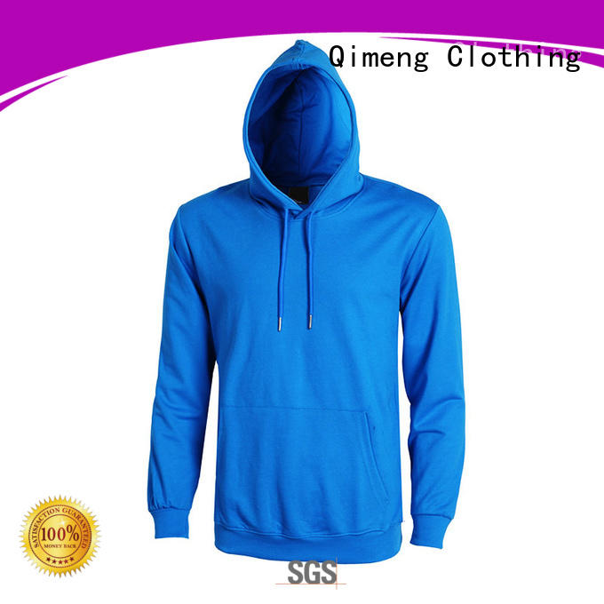 QiMeng newly black hoodies men owner for outdoor activities