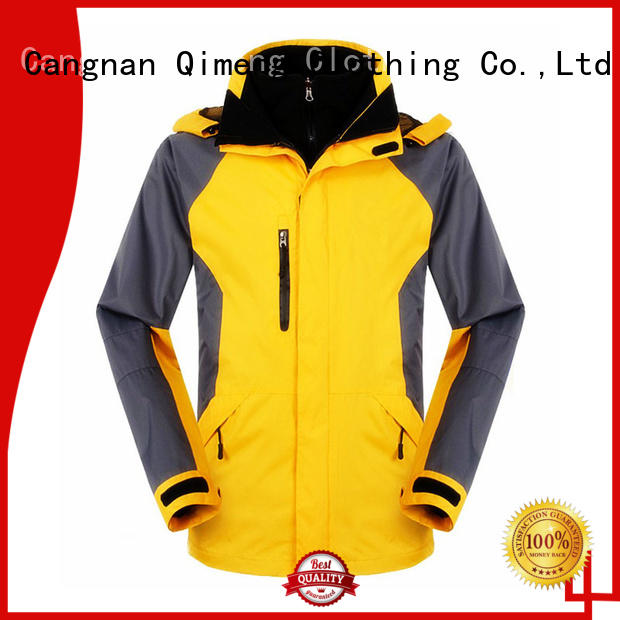 QiMeng prices hiking jacket wholesale for campaigns