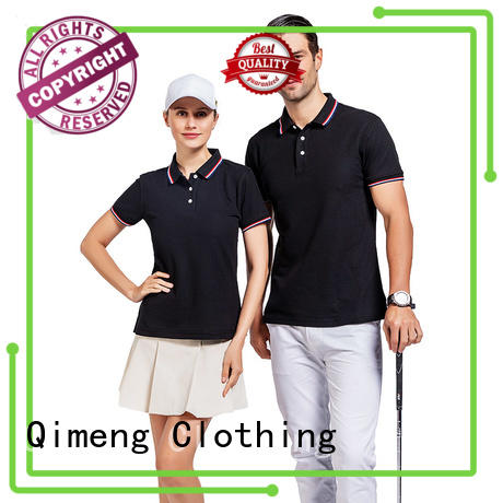 custom embroidered polo shirts shirts for promotional campaigns QiMeng