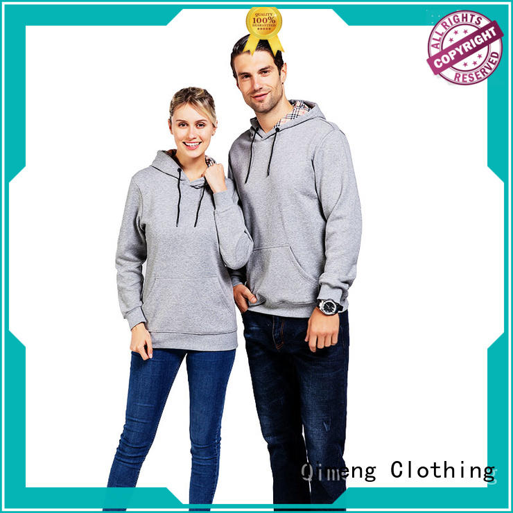 fashion men zipper hoodies in China for daily wear QiMeng