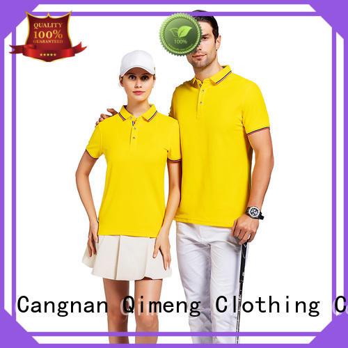 QiMeng design ladies polo t shirts in different color for business meetings