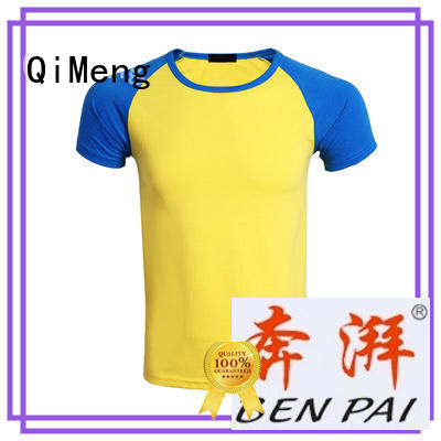 plain t-shirts collar for daily wear QiMeng