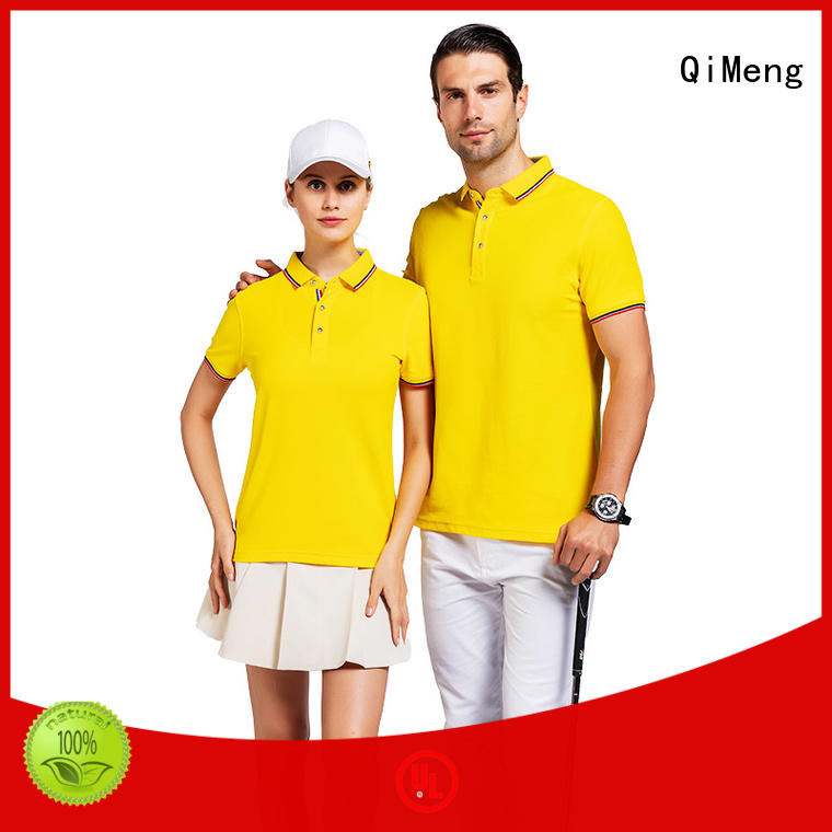QiMeng promotional polo sport shirts factory  for business meetings