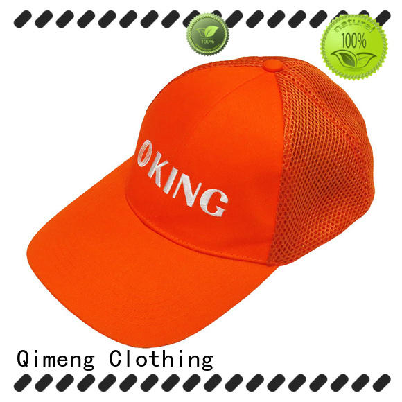 QiMeng wholesale custom baseball cap with good price in school