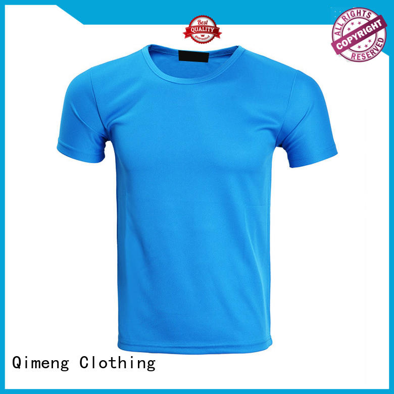 QiMeng neck personalized t shirt wholesale for sports