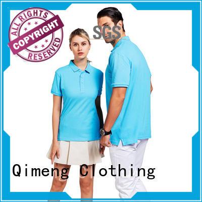 QiMeng hot-selling golf polo shirt button design