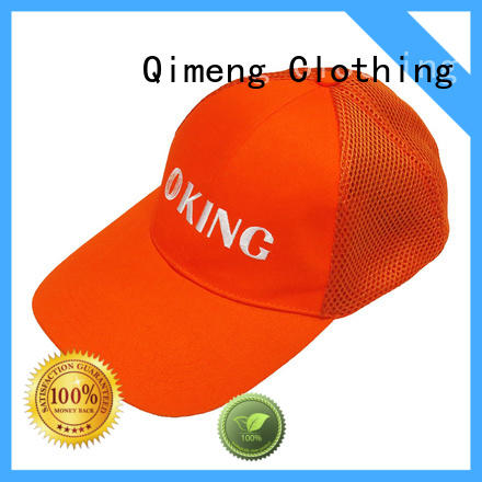 QiMeng OEM baseball cap custom wholesale in school