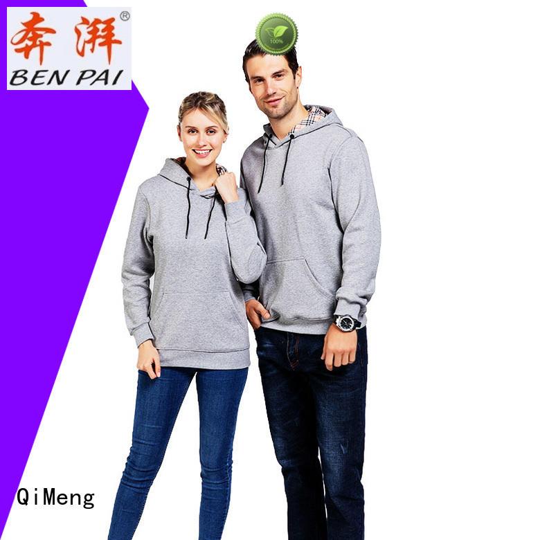 sleeve customizable hoodies casual QiMeng
