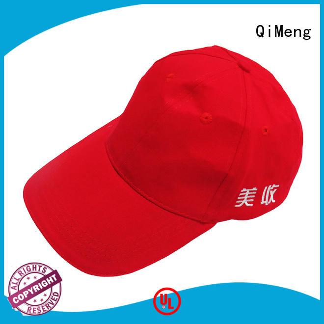 QiMeng fine- quality baseball cap custom with good price in school