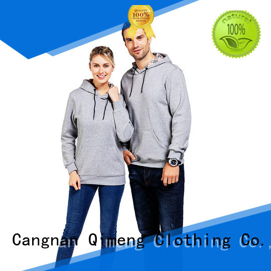 QiMeng fine- quality blank hoodies factory price for sporting