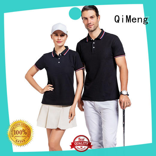 fashion custom made polo shirts golf for promotional campaigns QiMeng