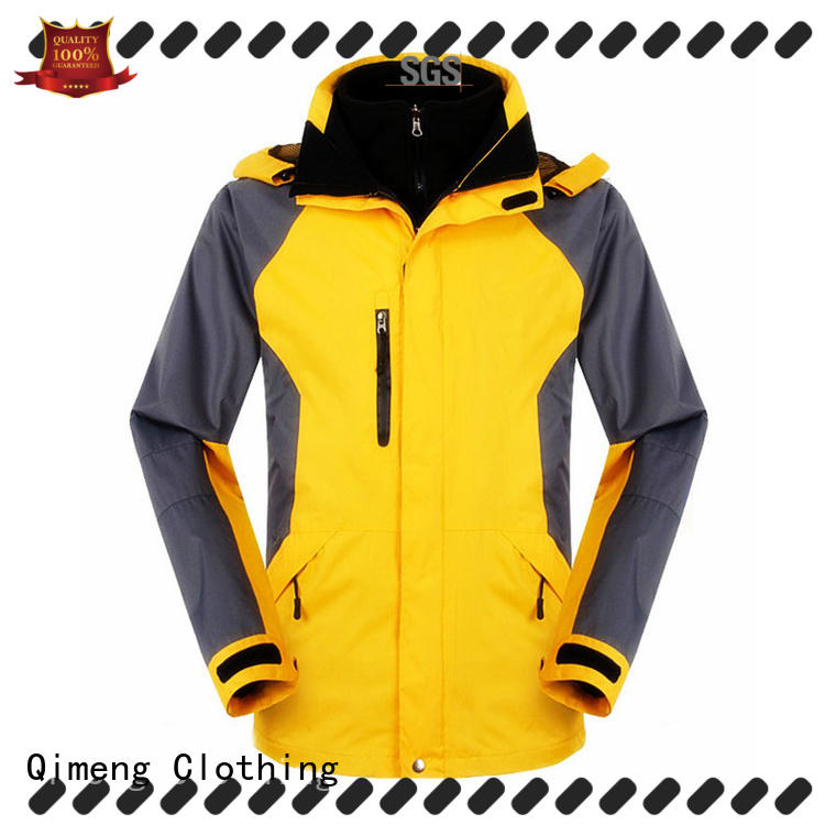 black soft shell jacket oem for campaigns QiMeng