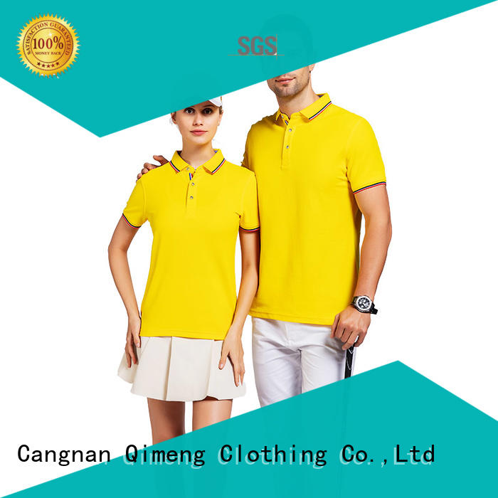 QiMeng new-selling mens custom polo shirts  supply for outdoor activities