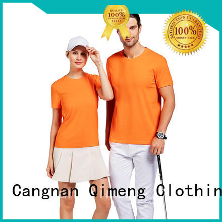 QiMeng 100%cotton china custom t-shirts cotton for daily wear