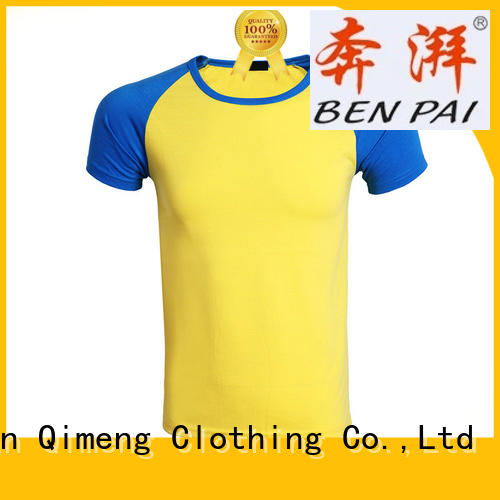 QiMeng oneck custom cotton t-shirt wholesale for sporting