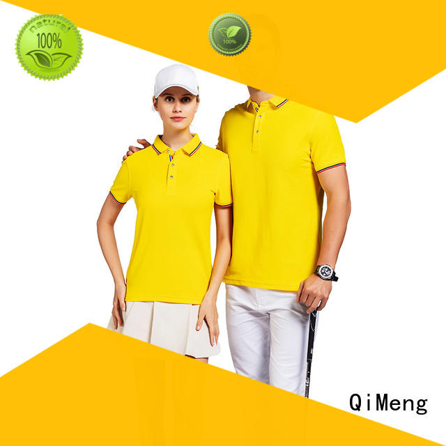 QiMeng excellent customized polo t-shirts with many colors for promotional campaigns