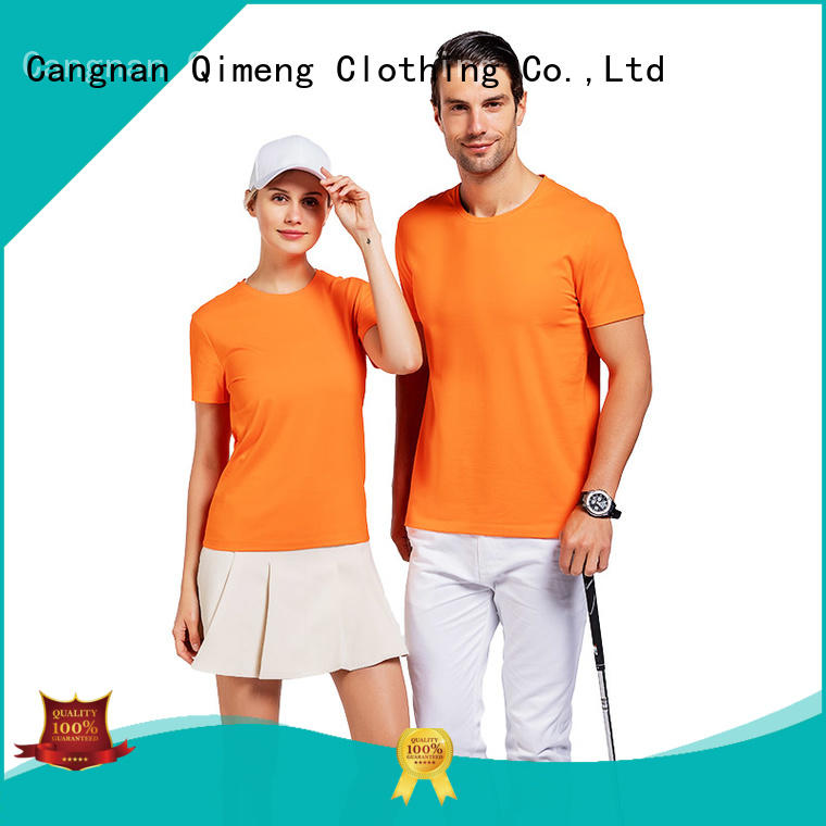 QiMeng printing plain t shirts owner in street