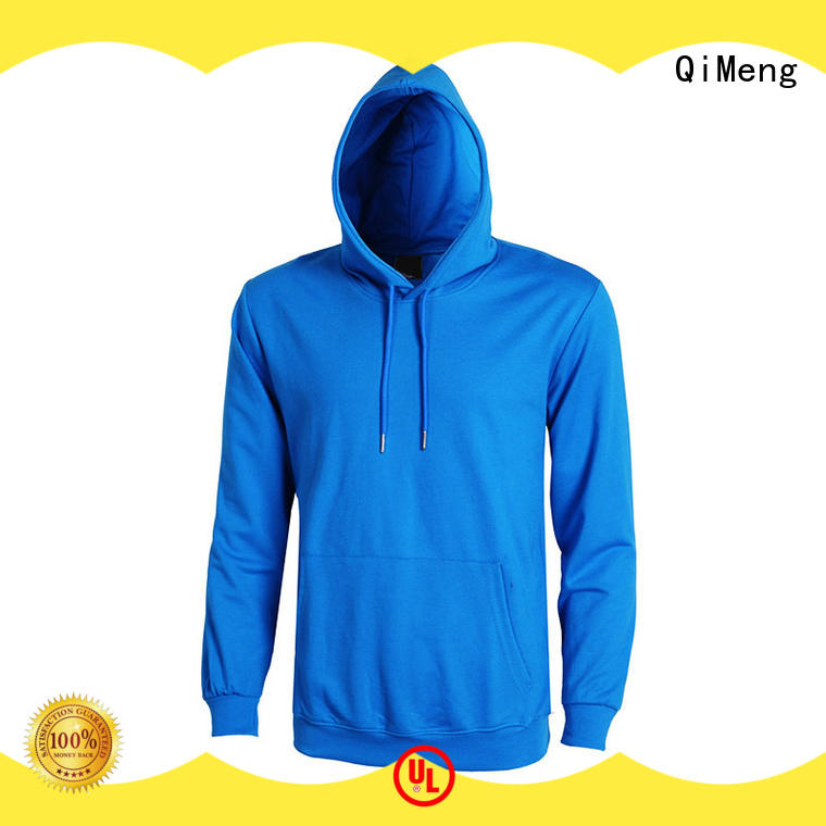 QiMeng shirt plain hoodies for man for promotional campaigns