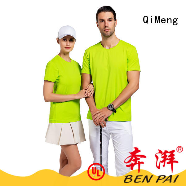 QiMeng oneck custom tee shirts in China for sporting